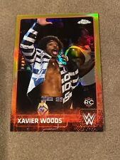 2015 TOPPS CHROME WWE #76 XAVIER WOODS GOLD REFRACTOR 46/50 Rookie Card!