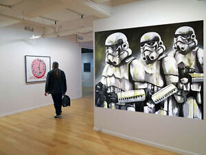 Original Street Art Star Wars Storm Trooper print canvas poster by  Andy Baker