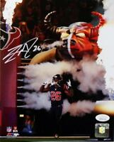Lamar Miller Signed Houston Texans 8x10 Smoke and Flames PF Photo- JSA W Auth