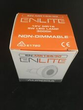 Enlite MR16 12v 5W LED Lamp EN-MR165/30 3K Warm White Non Dimmable