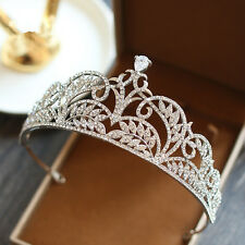 Vogue Crystal Zircon Queen Crown Headbands Wedding Bridal Tiara Hair Accessories