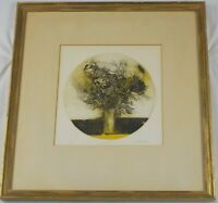 Vintage Original Colored Etching Bouquet by Jack Coughlin Listed