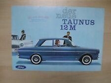 Ford 12M folder Prospekt brochure German text Deutsch 6 pages 1962