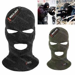BALACLAVA BLACK GREEN MASK THINSULATE WINTER SAS STYLE ARMY SKI NECK WARMER