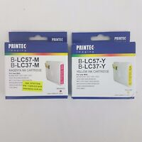 Printed Imaging Ink Cartridges x 2 B-LC57-M B-LC37-M B-LC57-Y B-LC37-Y Expired