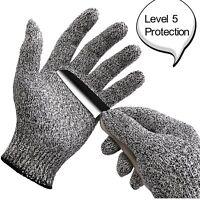 WISLIFE Cut Resistant Gloves Level 5 Protection Food Grade EN388 Certified,