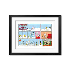 Peanuts Snoopy and Woodstock Melting Snowmen Poster print