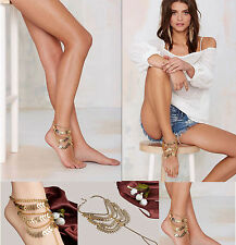 Anklet Gold Coin Jewelry Bracelet Chain Foot about Women Ankle Barefoot Sandal