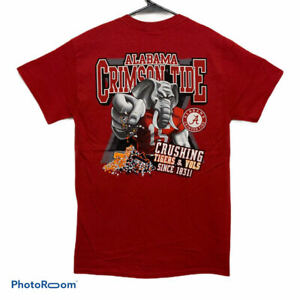 Alabama Crimson Tide T-Shirt - Elephant Crushing Tigers Vols - Size Small - New