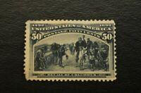 US Stamp Scott# 240 50c Nice Example Recall of Columbus, 1893 Uncancelled, Mint