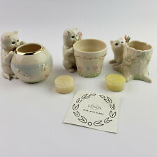 Set or 3 Lenox Curious Kitty Candle Plant Trinket Holders Cat Kittens Fishbowl