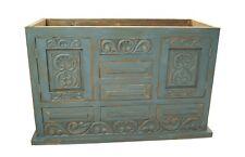 """Shipwreck Rustic Carved Wood Bathroom Vanity 60"""" wide"""