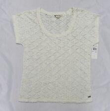 Roxy Women Small  Top White Crochet Carme Top