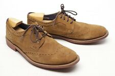 Ted Baker London Hontaar Chaussures Homme 13 D Marron Cuir Daim Bout Shortwing