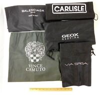 Lot of 5 Designer Black Dust Bag Dust Covers Via Spiga Vince Camuto Carlisle +