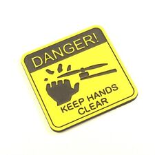 FAA Drone Registration Engraved Tag Sticker Danger Keep Hands Clear 34x35mm