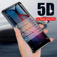 Tempered Glass Premium Film Screen Protector For Xiaomi Redmi Note 6 Pro 5D 9H