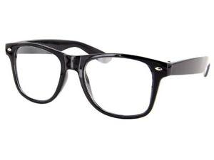 Nerd Brille Retro Hornbrillen Sonnenbrille Streber Atzen Brille Klar Wayfarer