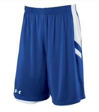 UNDER ARMOUR Women's Large Undeniable Reversible Shorts Royal / White NWOT FS