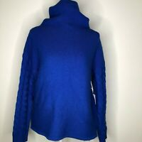 Nordstrom Collection Funnel Neck Wool & Cashmere Sweater sz S Blue