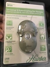 Hunter 99122 Universal 3-Speed Ceiling Fan Remote, NIB