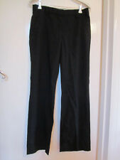 Massimo Dutti Low Rise Black Wool Smart Trousers in Size 28 in. / Size 8 - L30