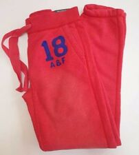 Abercrombie & Fitch rosso blu classico logo ricamato con effetto invecchiato Pantaloni Della Tuta M!