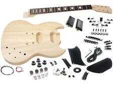 Solo SG Style DIY Guitar Kit, Basswood Body, Rosewood FB, Set Neck, SGK-10