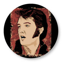 Pin Button Badge Ø38mm Elvis Presley The King Rock and Roll US