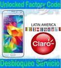 Unlock Service CLARO Samsung Galaxy S7 Edge 6 S6 S5 S4 J7 Note 5, 4 Desbloqueo