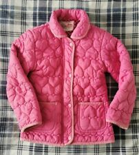 Girls Young Dimension Padded Coat Age 6-7 Years. Pink, Hearts, Zip Up.