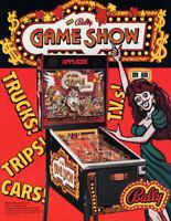 Bally 1990 GAME SHOW Original NOS Arcade Game Flipper Pinball Machine Sale Flyer
