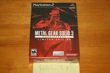 Metal Gear Solid 3: Subsistence Limited Edition (PS2) NEW SEALED NEAR-MINT!