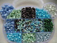 100 - 200 x 4mm 6mm & 8mm Shiny Cats Eye Glass Round Beads Craft Jewellery