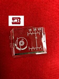 Janome Top Loading Sewing Machine Square Bobbin Cover Slide Plate #750036001