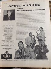 M4-1 Ephemera 1957 Advert Spike Hughes And His All American Orchestra