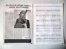 """COUPURE DE PRESSE-CLIPPING : AC/DC [9pages] 03/2001 Partition """"You Shook Me All"""