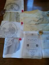 LAVENDER and LACE Cross Stitch Pattern Charts LOT 5 & Paper