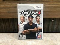 Top Spin 3 (Nintendo Wii - 2008) Complete in Box CIB - TESTED
