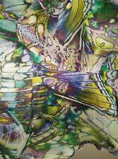 NWT Sportsgirl Butterfly Print Silk Strapless Tie Flouncy Dress 8