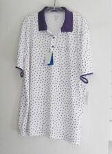 Greg Norman Attack Life Mens Printed Polo Shirt Bright White Sz Xl - Nwt