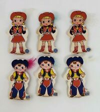 (6) Vintage Blowouts - Japan 1950s- NOS - Cowboys - Halloween Party Decor