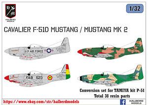 Cavalier F-51D Mustang & Cavalier Turbo Mustang III conversion set for Tamiya