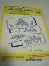 AUNT MARTHA'S PILLOW SLIPS Vintage # 3436 Hot Iron Transfer