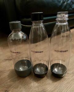 3 Slim Standard SodaStream Reusable Carbonating Bottles Sparkling Water Maker 1L