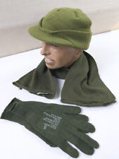 Gr.L US ARMY WW2 Vintage Winter Set Jeep Cap Mütze Schal Handschuhe gloves