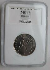 More details for graded coin ms67 - 1980 - 20 zl - igrzyska xxii olimpiady