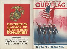 1942 U.S. MARINE CORPS - HOW TO RESPECT & DISPLAY OUR FLAG - GOVERNMENT BOOKLET