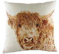 """Evans Lichfield Angus Highland Cow Cushion 17"""""""