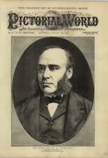 1877 Wh Smith Mp First Lord Of The Admiralty